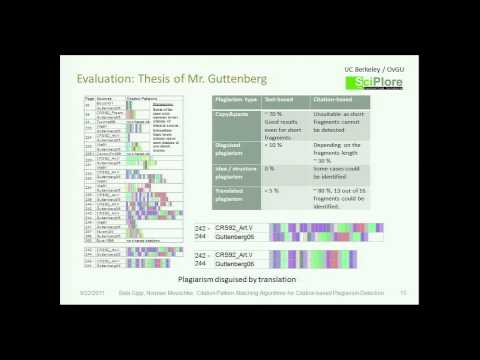 DocEng 2011: Citation Pattern Matching Algorithms for Citation-based Plagiarism Detection