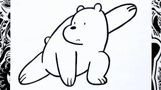 Como dibujar a polar de escandalosos | how to draw polar bear