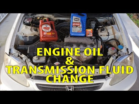 2000 Honda Civic Engine Oil Transmission Fluid Change