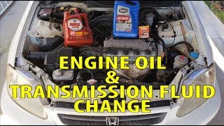 2000 Honda Civic Engine Oil & Transmission Fluid Change