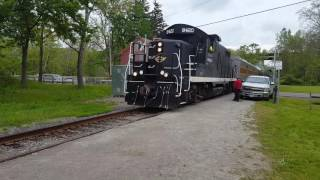 CVSR Scenic Train Passing Boston Mills - 5/21/2016