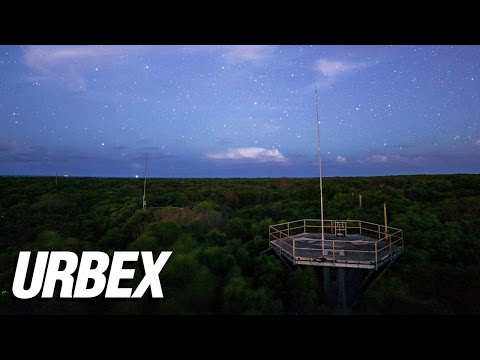 Abandoned Missile Control Base Exploration at Night