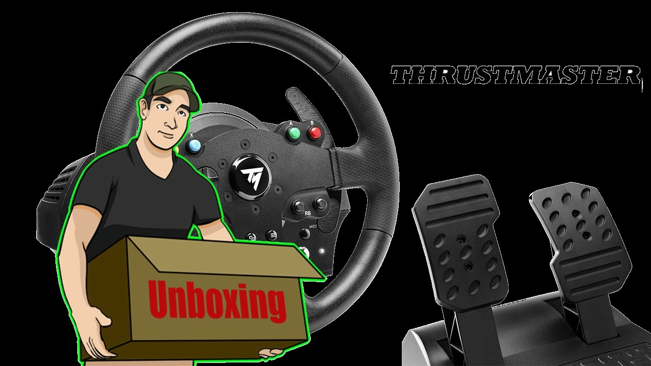 unboxing volante thrustmaster tmx force feedback para xbox. Black Bedroom Furniture Sets. Home Design Ideas
