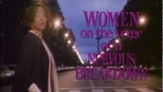 """""""Mujeres al borde de un ataque de nervios"""" Trailer 1988."""