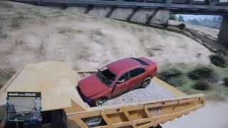 Jumping a Car into the Dump Truck | GTA V