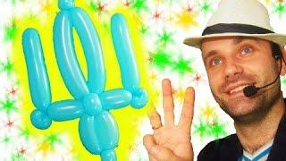 Герб Украины из шариков шдм ★ Український герб із повітряних кульок