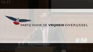 Inbreng Erik Veltmeijer (PVV) Perspectiefnota 2019 Provincie Overijssel