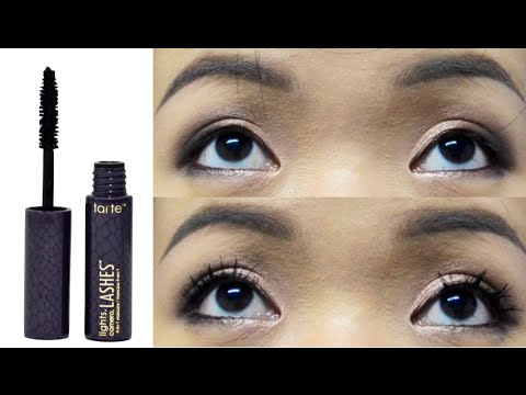 Perfect Mascara Try On U0026 Review: TARTE Lights, Camera, Lashes 4 In 1 Photo