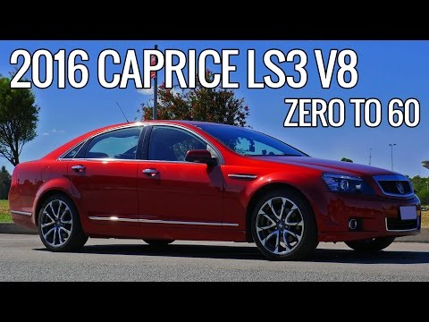 2016 Holden WN Caprice 0-60 0-100 Acceleration Times Review Chevrolet EP#12