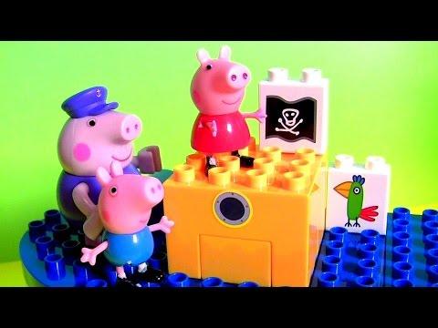 Grandpa Pig's Boat Construction Blocks Nickelodeon Peppa Pig Kids Toys Barco Del Abuelo Cerdito