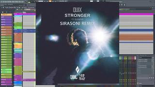 Quix - Stronger Remix FL Studio 20 Playthrough