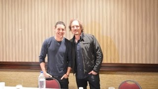Chicago Motorcycle Show 2014 with SOA Stars Theo Rossi and Kim Coates