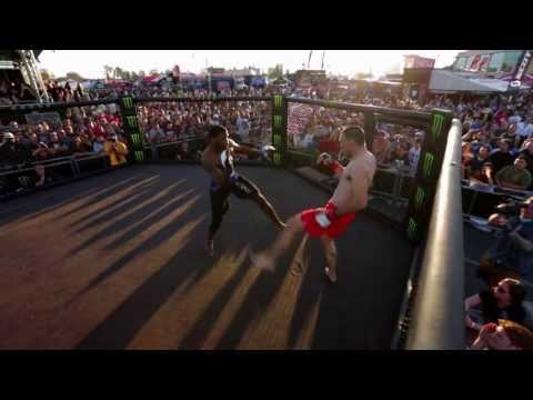 Monster Energy MMA Fight During Supercross Pit Party!