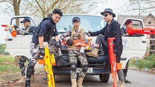 LTT Nerf War : Couple SEAL X Warriors Nerf Guns Fight Criminal Group Dr Lee Skill shotguns