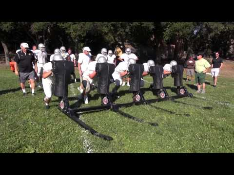 Acalanes and De La Salle Camp - Hitting the sled