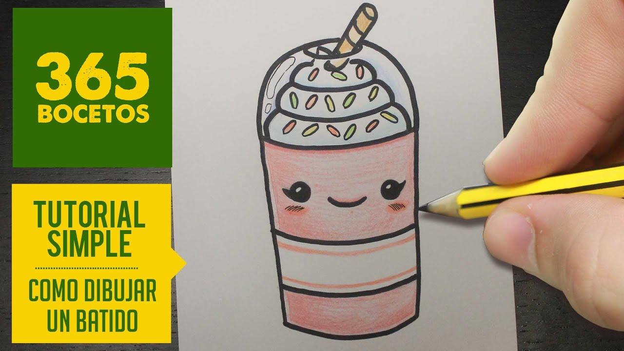 Como Dibujar Un Batido Kawaii Paso A Paso Dibujos Kawaii Faciles How To Draw A Milkshake