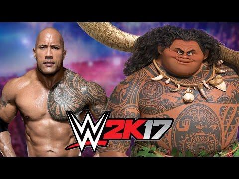 The Rock vs Maui from Moana