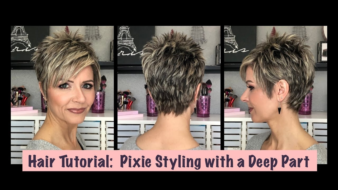 Hair Tutorial Pixie Styling With A Deep Part Youtube