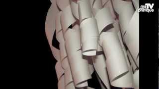 Idée déco : créer un lustre en papier