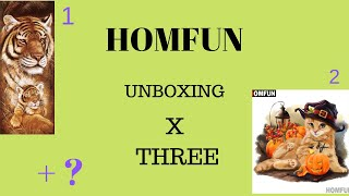 HOMFUN unboxing,Tiger and cub, a halloween cat and a Christmas surprise