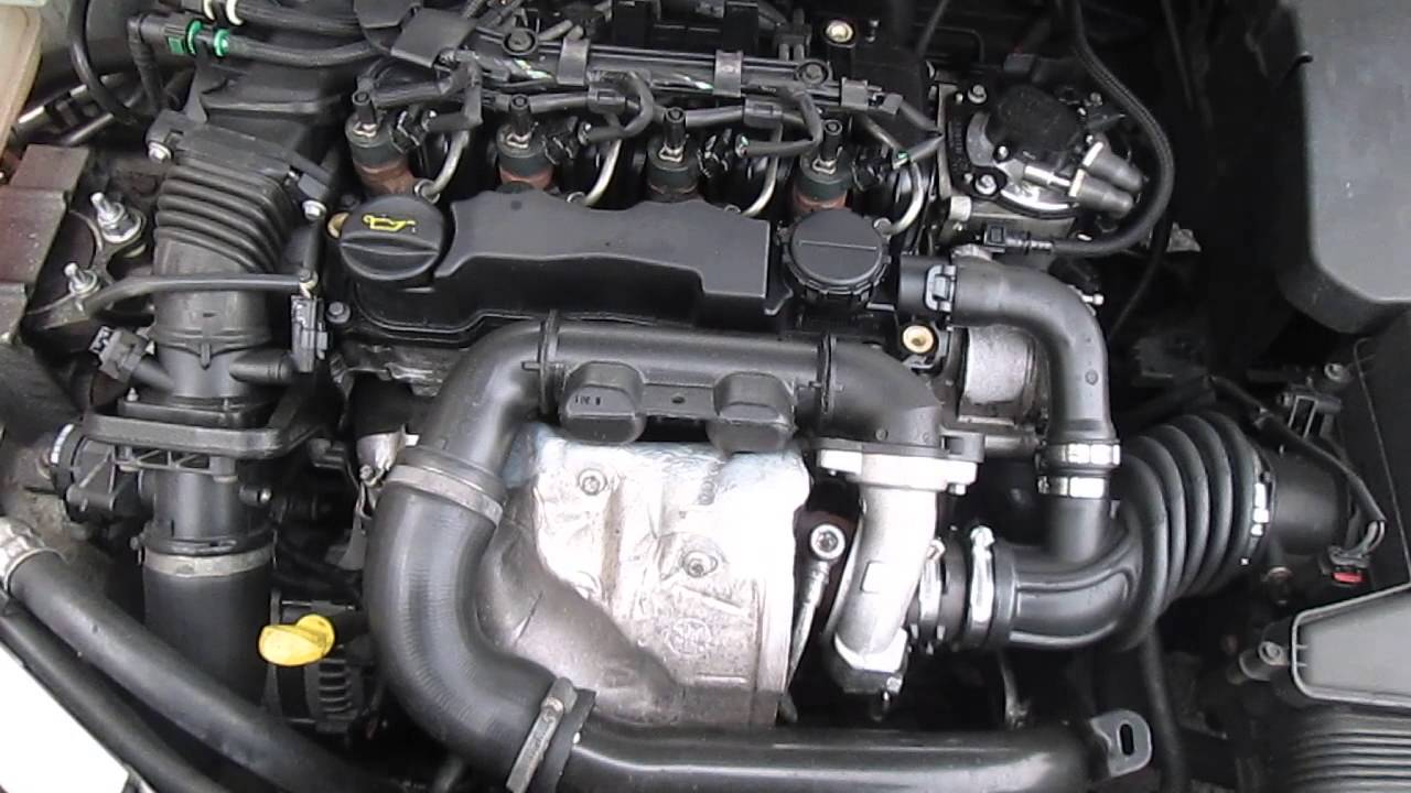 ford focus engine complete 2008 1 6 tdci 90 bhp youtube. Black Bedroom Furniture Sets. Home Design Ideas