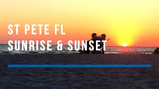Sunrise And Sunset From St Pete FL Downtown And St Pete Beach FL On the Same Day 🌞🌅🌇
