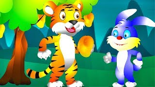 Funny Bunny and Tiger Fun Colors Learning Video for Kids