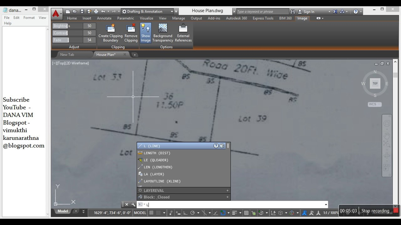 How To Insert Image To Auto Cad (raster Image Reference)  How To Draw Site  Plan