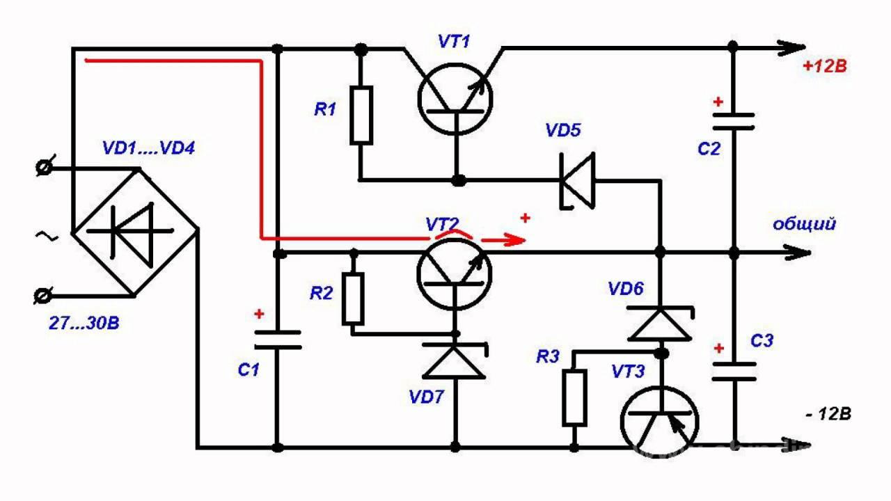 Простой стабилизатор двухполярного напряжения стабилизатор напряжения батарейки