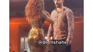 ميريام فارس تتحدى شاب فى الرقص بالأردن