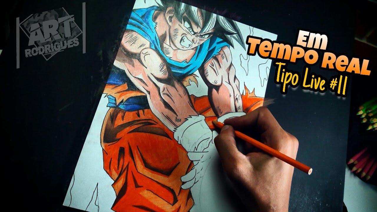 Desenhando O Goku Instinto Superior Em Tempo Real Tipo Live 11 Dicas De Degradê