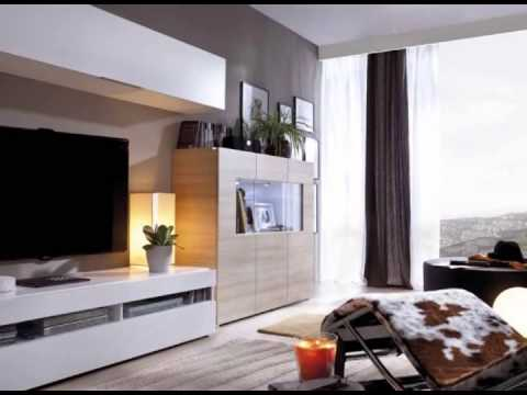 Muebles de salon en colores blanco y madera youtube for Mueble salon blanco y madera