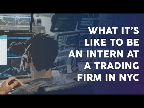 An internship at a professional trading firm in New York