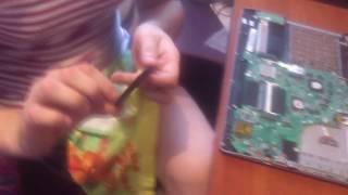 Как разобратьпочистить и нанести термопасту на ноутбук ASUS K56CB