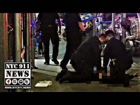 Manhattan: NYPD CPR On Man Shot