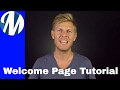 Create a Welcome Page using TypeLoft