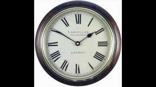 Classic Wooden Wall Clock, Lascelles Design - 26.7cm