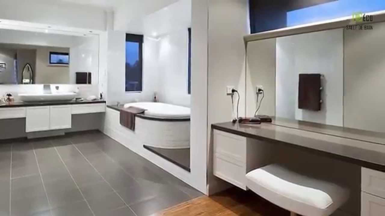 deco salle de bains modernes youtube. Black Bedroom Furniture Sets. Home Design Ideas