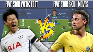 5 STAR WEAKFOOT👣 VS 5 STAR SKILLS⛹ FIFA 19 EXPERIMENT! TEABAG FORFEIT!