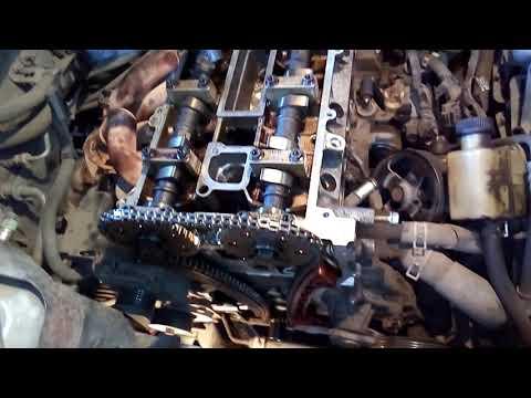 мазда 6 L8 1,8 цепь грм ,метки ,установка натяжителя и успокоителя цепи   Часть 8