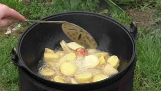 жаренная картошка в казане очень простой рецепт