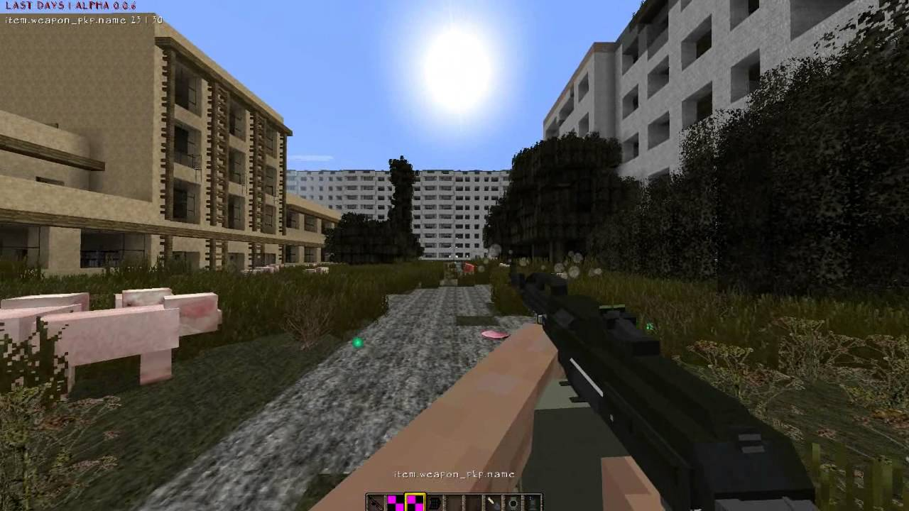Minecraft 1. 7. 2 | last days mod v0. 27 | early alpha priview | gun.