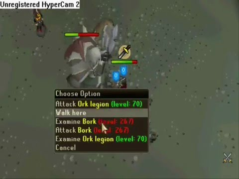 Runescape how to kill bork at a low level and not die