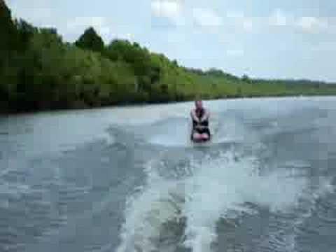Kneeboarding on the Kaskaskia River