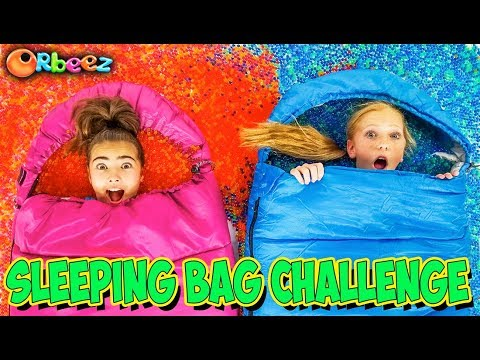 Sleeping Bag Challenge WITH ORBEEZ! | Official Orbeez