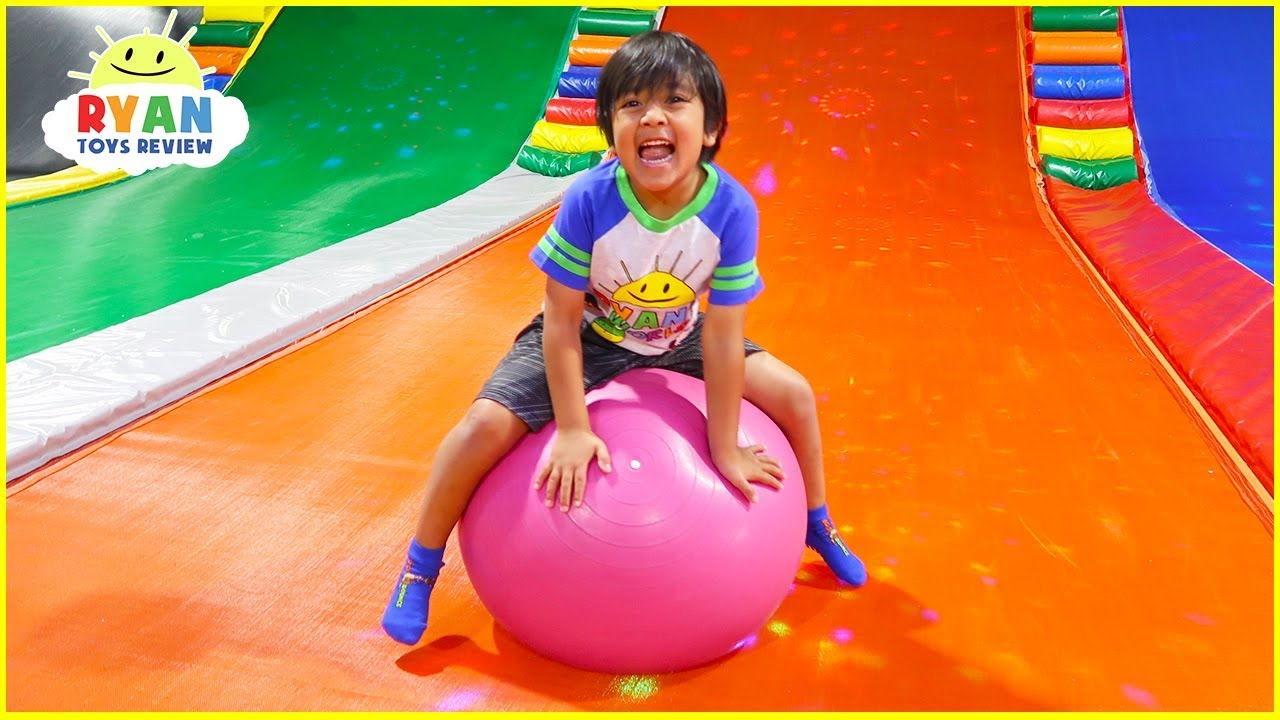 Ryan plays at Indoor Playground for kids family fun