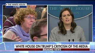 Sarah Sanders Pressed on Fake News Media Awards