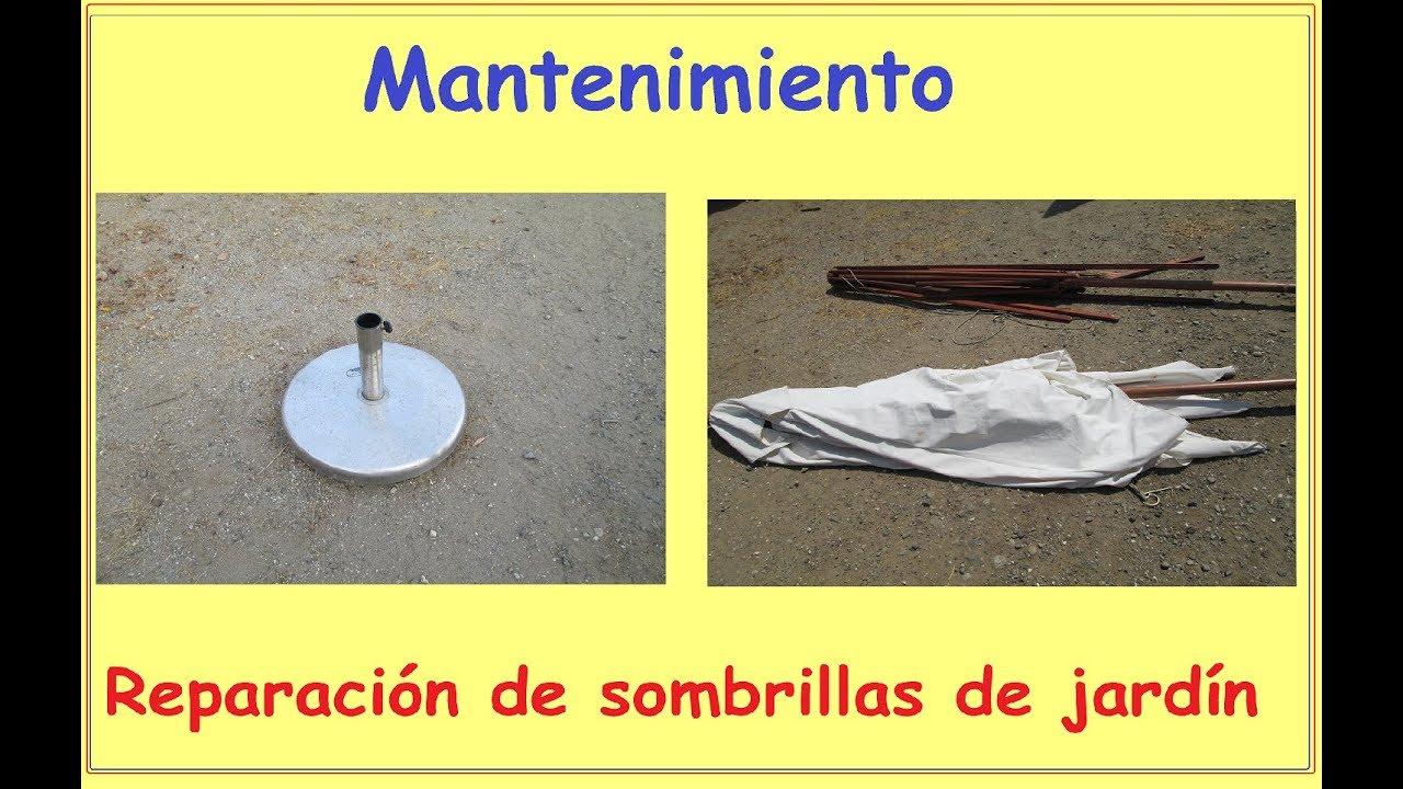 C mo reparar sombrillas de jard n la base mantenimiento for Sombrillas de jardin