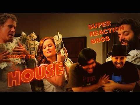 SUPER REACTION BROS REACT & REVIEW The House Official Trailer!!!!