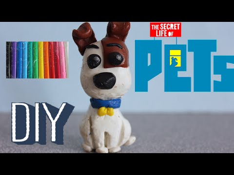 Secret Life of Pets FUNKO mini max CUSTOM DIY with modeling clay! How to make Max, Toys Kids